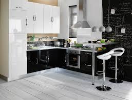 cuisine moderne noir et blanc cuisine blanche moderne cuisine best ideas about bois et noir on
