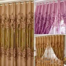 Yarn Curtains Luxury Room Floral Tulle Window Balcony Screening Curtain Drapes