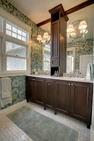chicago narrow bathroom vanity farmhouse with wall sconces cross