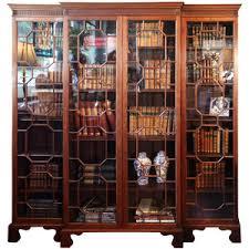 Break Front Bookcase 1stdibs Com Antique Swan Chippendale Breakfront Bookcase
