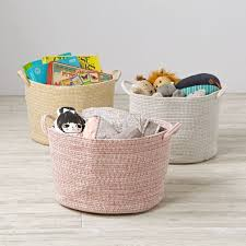 Tall Laundry Basket Stylish Cute Kids Storage Bins U0026 Baskets The Land Of Nod