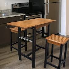 red barrel studio jeanetta 3 piece table stool kitchen island set