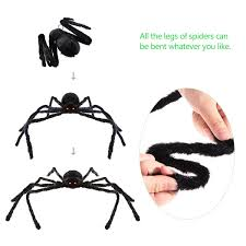 halloween spiders for sale amazon com bestomz giant halloween spider 125cm with led eyes