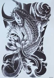 koi fish tattoo on arm arm tattoos temporary tattoo stickers big fish tattoo black arm