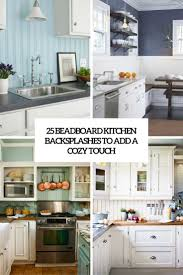 Easy To Clean Kitchen Backsplash 25 Beadboard Kitchen Backsplashes To Add A Cozy Touch Digsdigs
