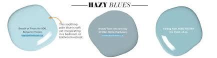 paint palette hazy blues interiors by color