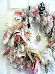 pin by samantha jones on shabby chic fabric rag wreaths pinterest