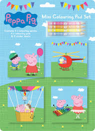 peppa pig mini colouring pad set funkypen co uk