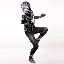 Childrens Spider Halloween Costume Aliexpress Buy Black Spiderman Costume Kids Halloween