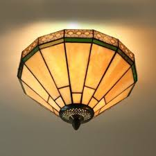 Flush Mounted Ceiling Lights by Umbrella Geometric Pattern12 Inch Semi Flush Mount Ceiling Light