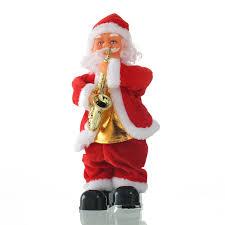 creative electric santa claus singing saxophone doll santa claus
