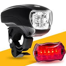 Elp Lighting Amazon Com Led Bike Light Set Bicycle Headlight U0026 Taillight