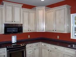 Kitchen Cabinets Antique White Wonderful Kitchen Cabinets Painted And Glazed Pewter Glaze