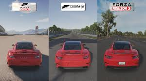 porsche 911 turbo sound forza horizon 2 vs forza 6 vs forza horizon 3 porsche 911 turbo