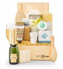 miami gifts delivered by gifttree relaxing retreat chagne spa gift chagne gift baskets