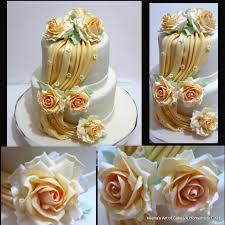 how to make gumpaste drapes and a wedding cake