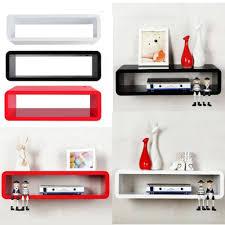 popamazing floating wall mount shelf cube sky box dvd hifi unit