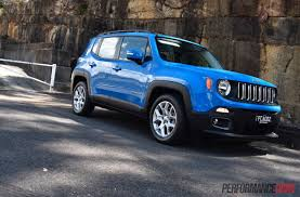 blue grey jeep 2016 jeep renegade longitude review video performancedrive