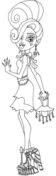 impressive monster high coloring pages dracula 1985 unknown