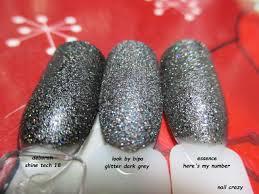 nail crazy look by bipa glitter dark grey
