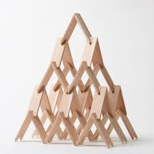 kengo kuma u0027s building blocks can be stacked to create sculptures