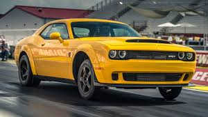 Fastest Muscle Car - dodge challenger srt demon review 840bhp muscle car tested top gear