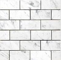 subway tile 7sf carrara subway tile marble 3x6