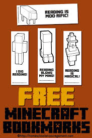 printable bookmarks for readers free minecraft printables for reading bookmarks reading logs and