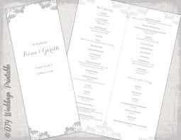 catholic wedding booklet printable catholic program template gray antique