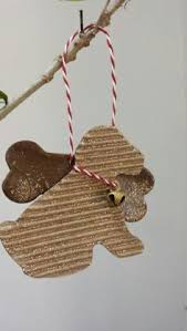 card stock ornament with baked clay ornaments
