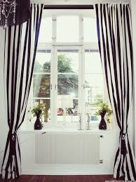 Really Curtains Black White Striped Curtains Something About It Is Really