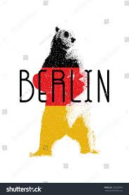 The Germany Flag Capital Germany Berlin Symbol Berlin Bear Stock Vektorgrafik