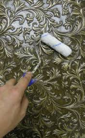 Painting Over Textured Wallpaper - over embossed clipart