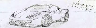ferrari sketch ferrari 458 sketch by rico misslekid7 on deviantart