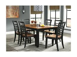 dining room table with butterfly leaf signature design by ashley quinley contemporary dining table with