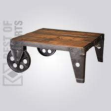 industrial coffee table with wheels premium industrial coffee table best of exports