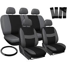nissan altima seat covers oxgord 17 piece set flat cloth mesh auto seat covers set airbag