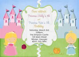 Princess Birthday Invitation Card Princess Invitation Or Tinkerbell Princess Twins Joint