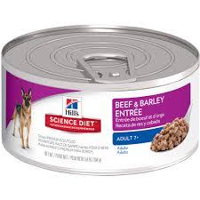 hill u0027s science diet 7 beef u0026 barley entrée dog food canned