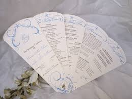 Fan Wedding Program Kits Nautical Elegance Wedding Program Petal Fan Https Www Etsy Com
