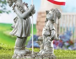 outdoor garden decor statues photograph flag americana