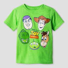 toddler boys u0027 toy story group faces shirt green target