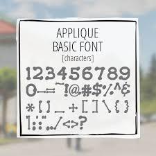 appliqué basic greekhouse of fonts