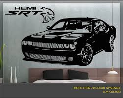 jeep hellcat custom challenger srt supercharged hemi hellcat wall decal 42