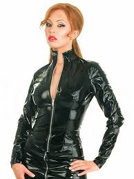 honour women u0027s mistress jacket in pvc black zip closure costume