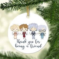 thank you for being a friend ornament ceramic ornament
