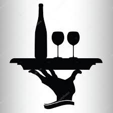 wine silhouette bottle of wine for two silhouettes u2014 stock photo drgaga 6090885