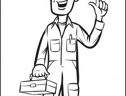 construction tools coloring pages construction worker coloring page retrocoloring