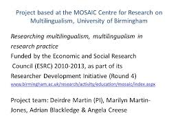 The Economic View From The Mapping Multilingualism In Research Practice The View From Two