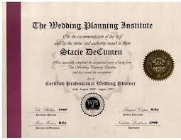 wedding and event planning certification wedding planning certificate adecs certificates